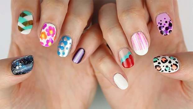 Video 10 easy to make nail art designs for beginners prinsesfo Gallery