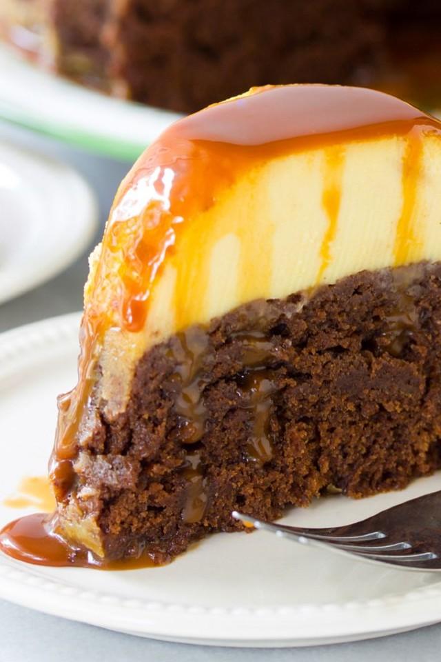 Chocolate Caramel Flan recipe