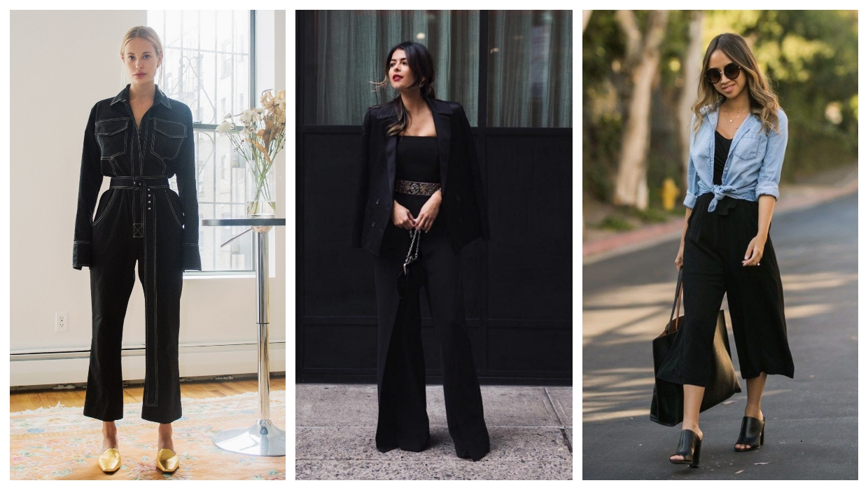 all black outfit ideas for ladies