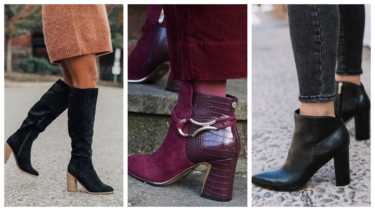 chunky heeled boots trend 2021