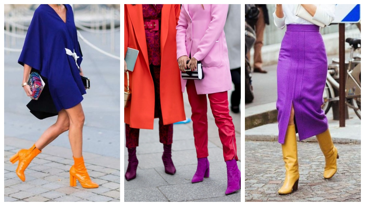 Colorful boots trend 2021