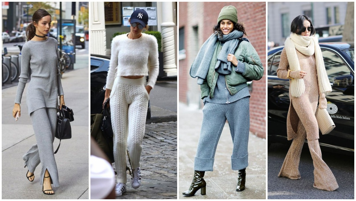 how to style knit pants