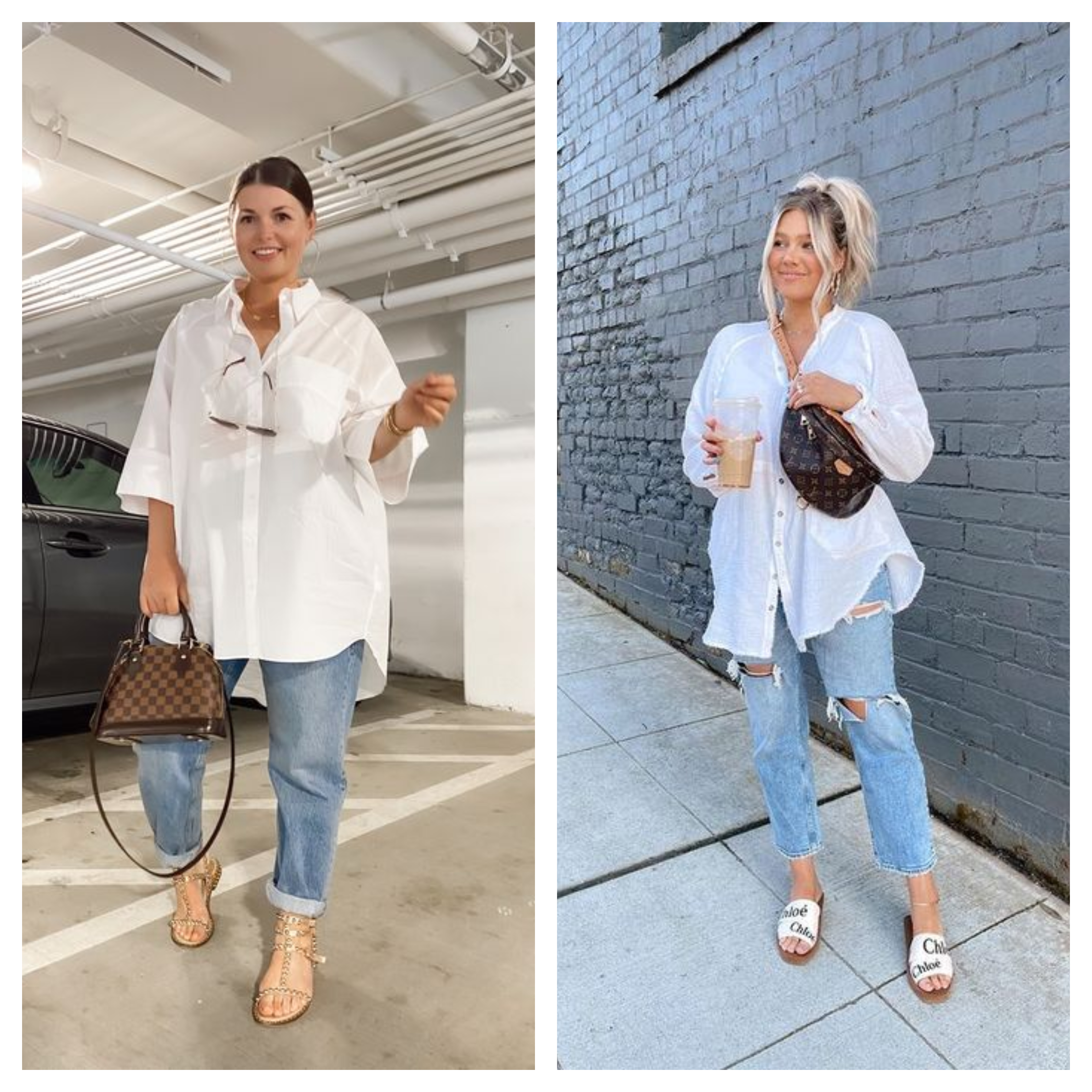لصاحبات جسم التفاحة: طرق ارتداء وتنسيق القميص الأبيض بأناقة