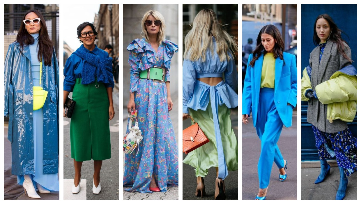 Blue and green outfit ideas