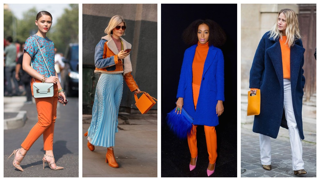 Blue and orange outfit ideas