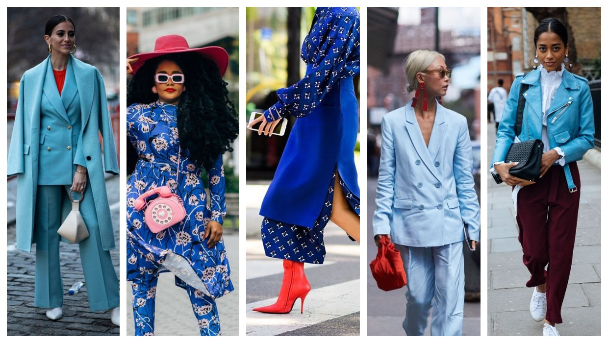 Blue and red outfit ideas