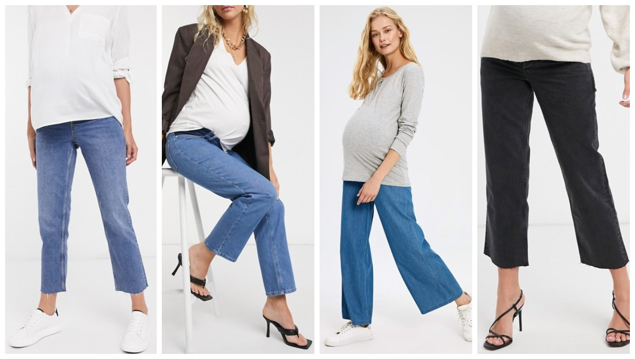 stylish maternity jeans