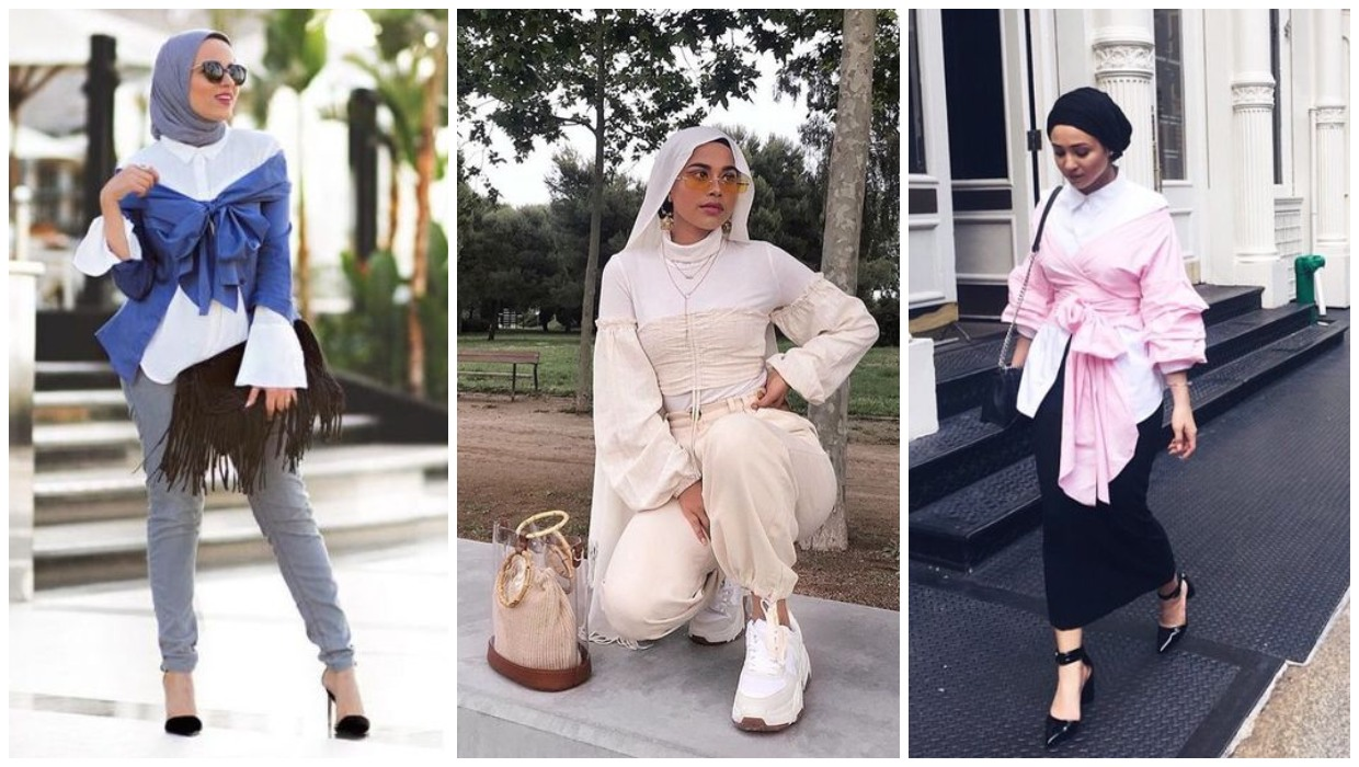 how to wear off shoulder tops with hijab