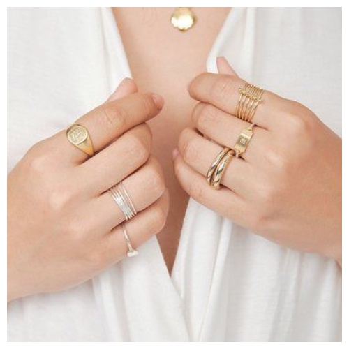 how to stack up rings