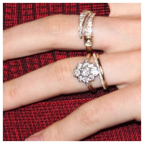 How to stack up rings with your engagement ring