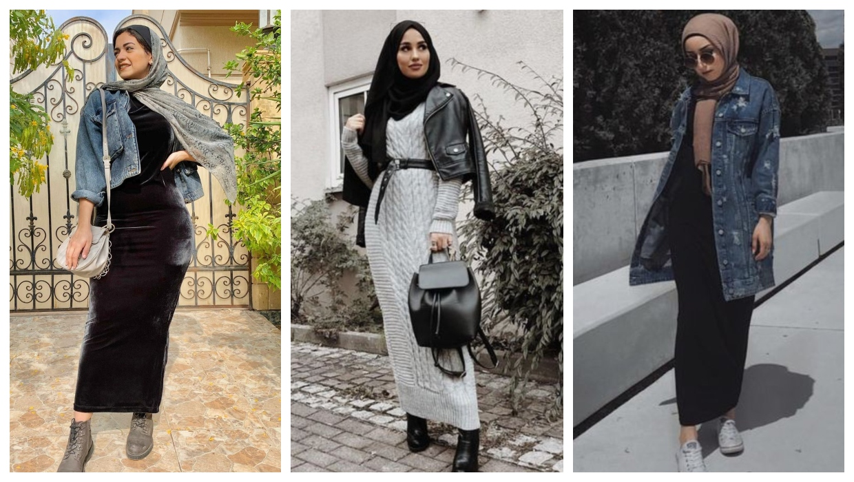how to wear fitted dresses with the hijab