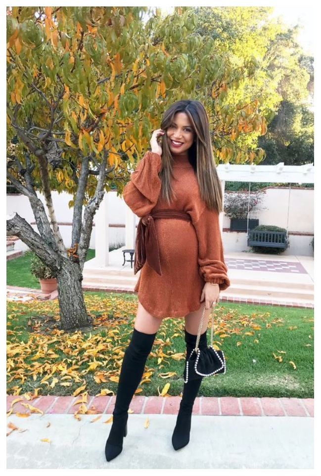 How to wear your sweaters during pregnancy