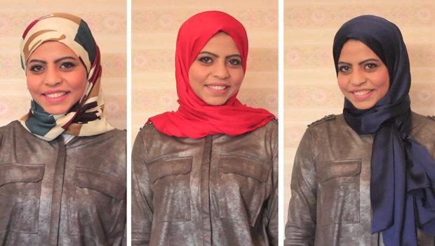 ثلاث لفات للحجاب الستان