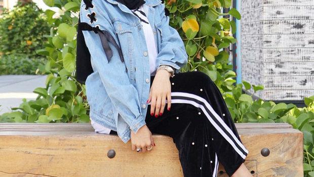 9d8ba14c1 كيف يمكنك ارتداء البنطلون ذو الخطوط الجانبية مع الحجاب؟
