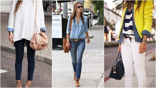 543f32388 موضة Header image article main seven styling tips to wear a denim shirt