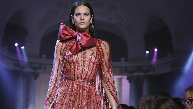 571e55b6c موضة Header image elie saab couture ss18 paris fashion week ar main image  fustany