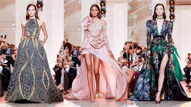 358b93b4c موضة Header image elie saab haute couture fall winter 2018 paris fashion  week ar fustany main image