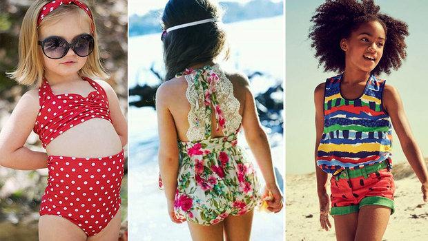 f415f0ecb أكثر من ٤٠ صورة لموديلات ملابس أطفال بنات على البحر