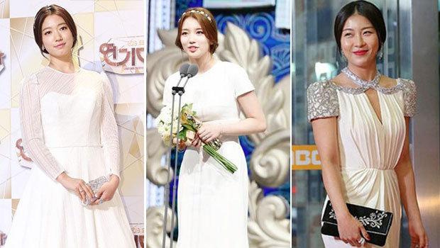 63e1b1a77 الفستان الأبيض يجتاح حفلات جوائز الدراما الكورية