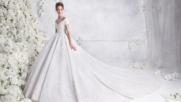 b94e1cca3 بالصور: أجمل فساتين زفاف شتاء 2018 من رامي العلي