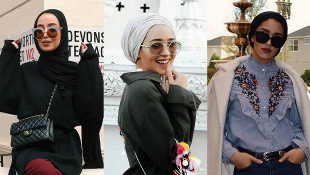 523031545 خمس قواعد لارتداء النظارات الشمسية مع الحجاب بأناقة متناهية