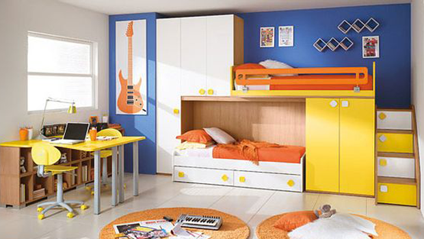 space saving ideas for small childrens bedrooms بالصور أحدث ديكورات غرف أطفال مودرن 21156