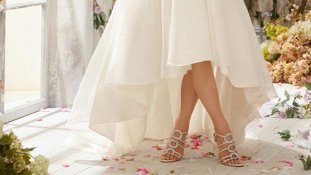 465fcfb788192 نصائح لارتداء فستان الزفاف القصير من الأمام والطويل من الخلف