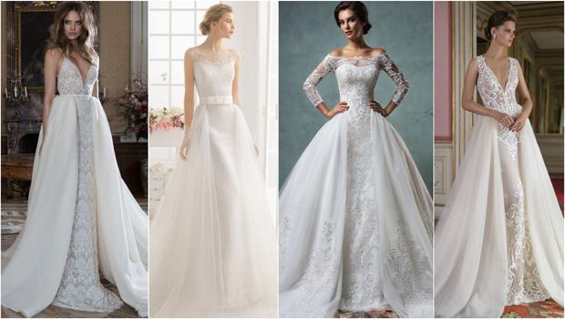 22c84f35faba1 موضة Header image wedding dress with detachable skirts fustany main image