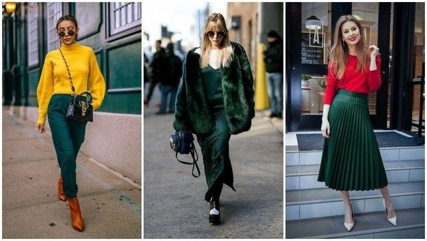 بالصور أفكار مختلفة لتنسيق اللون الأخضر الغامق مع ملابسك في الشتاء