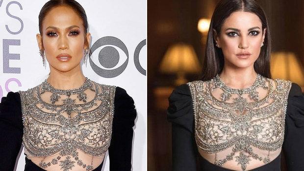 067ab5213 نجمات عرب وأجانب ارتدين نفس الفساتين... من إطلالتها أجمل؟