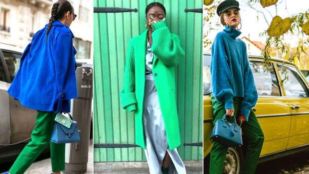 نعم بإمكانك تنسيق اللون الأزرق والأخضر معا في إطلالة رائعة