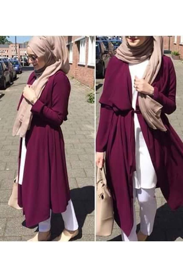 أناقة الكارديجان الطويل للمحجبات | Hijab Clothes | ملابس حجاب أنيقة