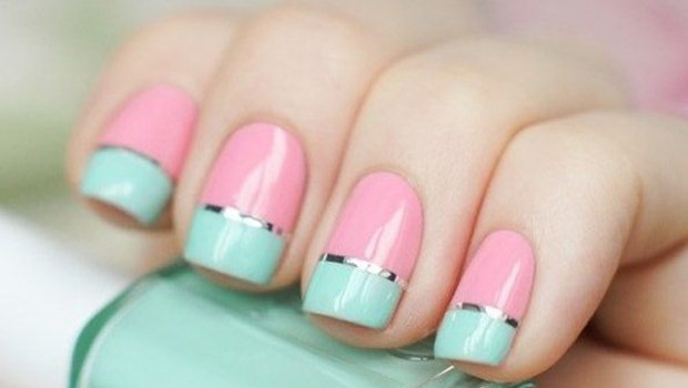 - Give Your Nails A Twist With This Pastel Tri-colored Nail Art