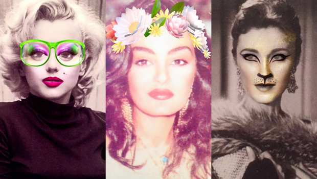 How 16 Classic Actresses Would Look Like Using Snapchat Filters