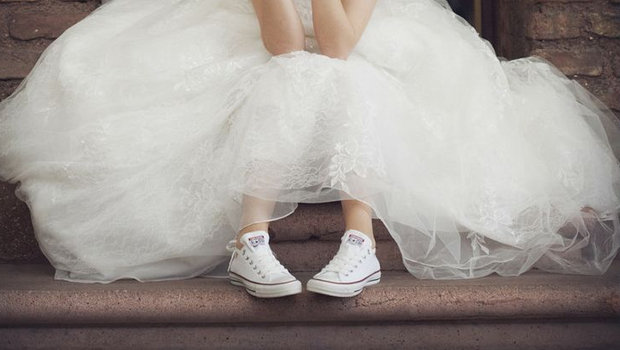Cool Sneakers to Wear on Your Wedding Day
