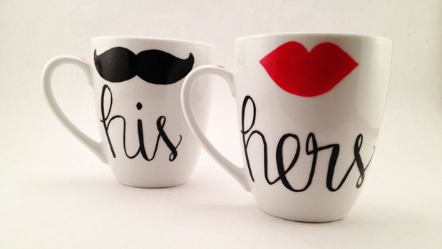 DIY His and Hers Mugs for Couples