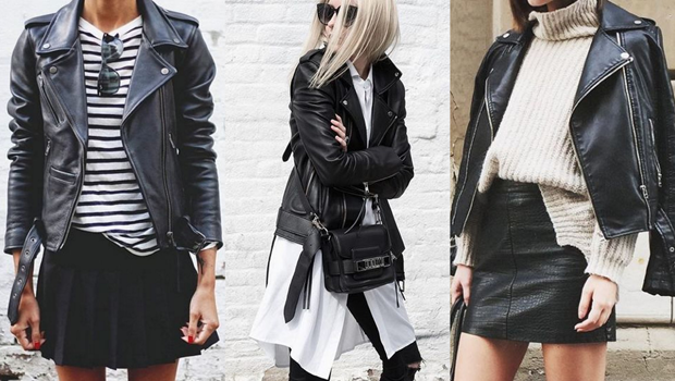 25 ways to wear your black leather jacket like never before