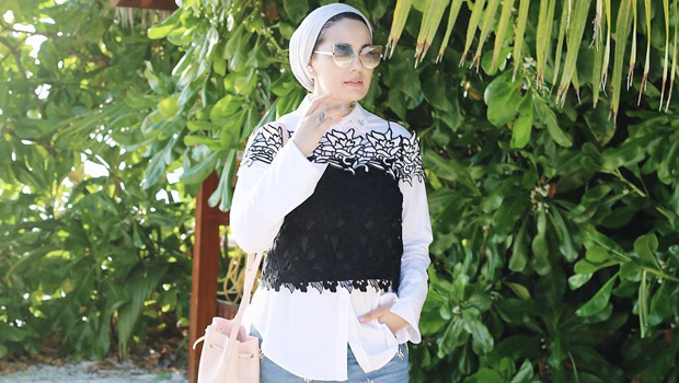 d1bd5d386 How to Wear Cropped Tops with Hijab