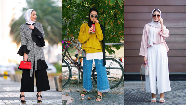 how to wear culotte pants like your favorite hijab fashion