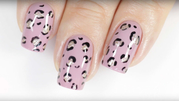 Leopard Print Nail Art That You Can Do at Home Easily with 2 Tools