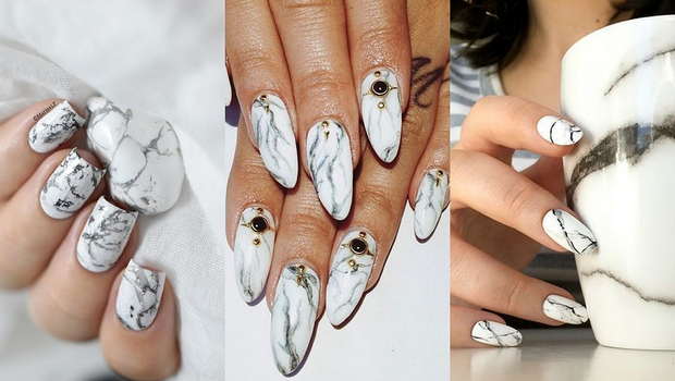 Stone Marble Nail Art Can Be Done In 3 Different Wayspick Your