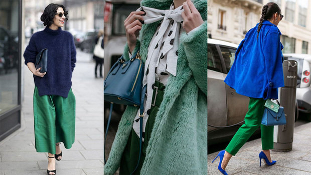 ceaff8f652b54 Yes! You Can Wear Green and Blue Together and Look Incredibly Chic