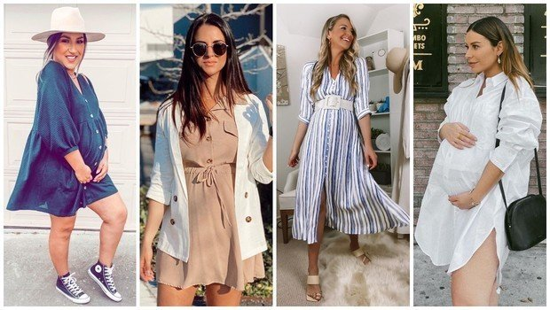 How To Wear Shirt Dresses During Your Pregnancy This Summer