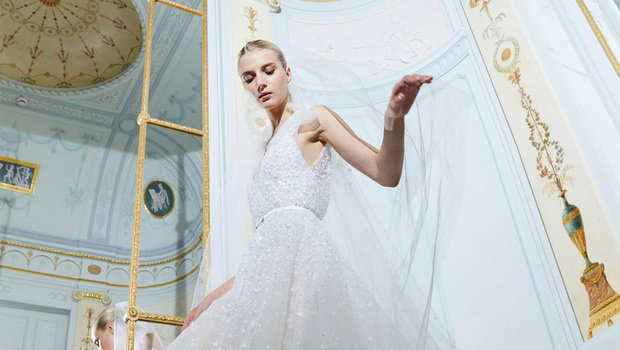 e76dc5532c3d Elie Saab's Fall 2019 Bridal Is an Ethereal Dream That Will Suit