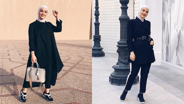5a97caeed5d Fashion Header image fustany hijab fashion how to wear all black outfit  like hijab fashion blogger dalalid