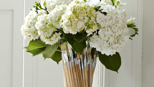 How To Make A Vase Using Only Paintbrushes