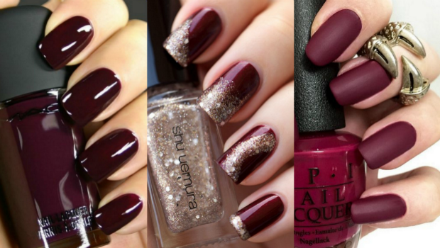 25 photos of burgundy nail designs for a very chic winter