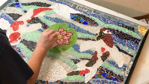 Video Create A Lovely Mosaic Panel Out Of A Broken Dish Like This