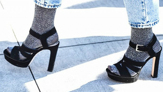 on sale c8ba7 f3e89 25 Photos to Show You the Cool Way to Wear Socks with Heels