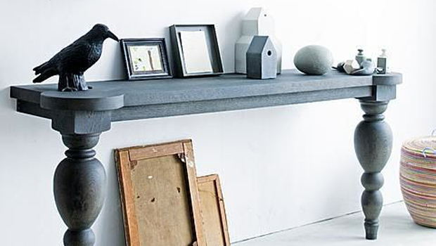 DIY: Turn Your Old Table Into A Cool Wall Mounted Console
